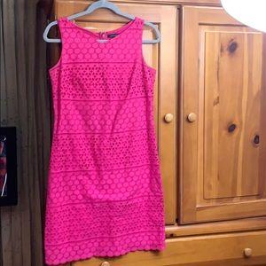 Pink short sleeve women's Easter Dress